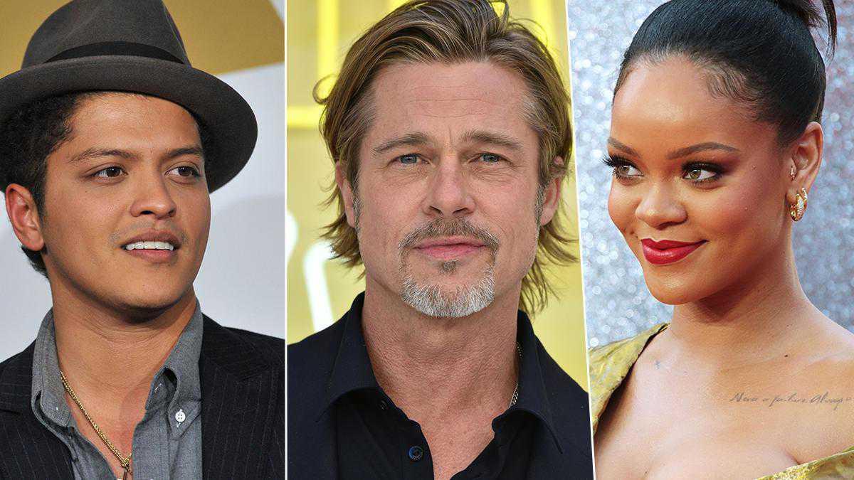 Bruno Mars, Brad Pitt, Rihanna