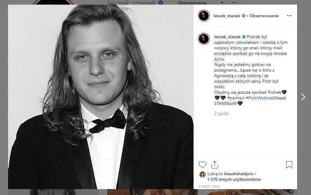 Piotr Woźniak-Starak nie żyje, kondolencje