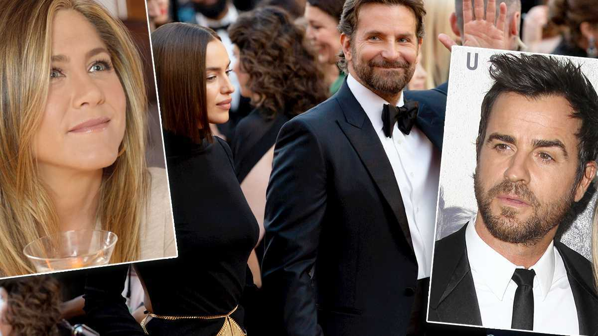 Irina Shayk, Bradley Cooper, Justin Theroux, Jennifer Aniston