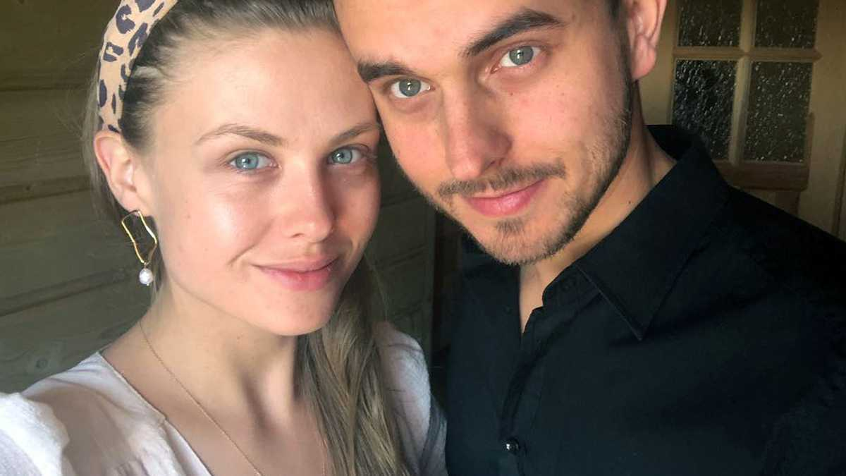 Anna Karczmarczyk i Pascal Litwin dzieci