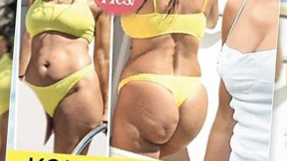 Kourtney Kardashian w bikini