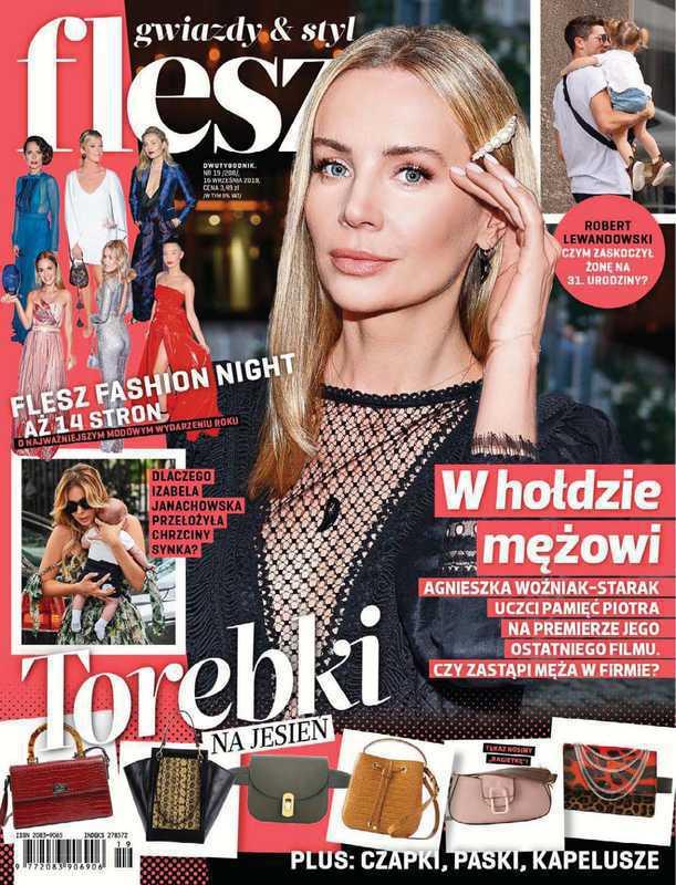 Agnieszka Woźniak-Starak na okładce magazynu Flesz