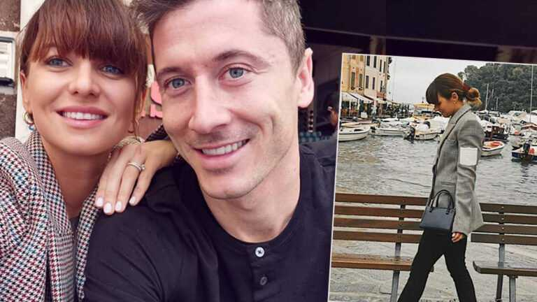 Anna i Robert Lewandowscy we Włoszech