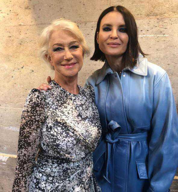 Helen Mirren i Joanna Horodyńska – pokaz L'Oreal Paris w ramach Paris Fashion Week 2019