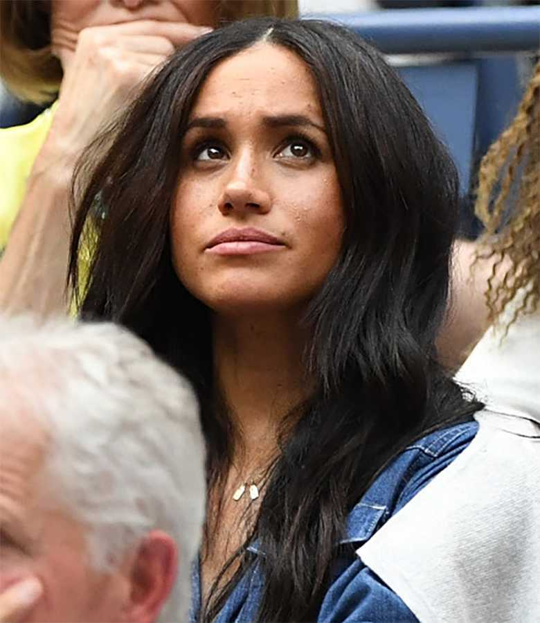 Meghan Markle podczas finału US Open 2019
