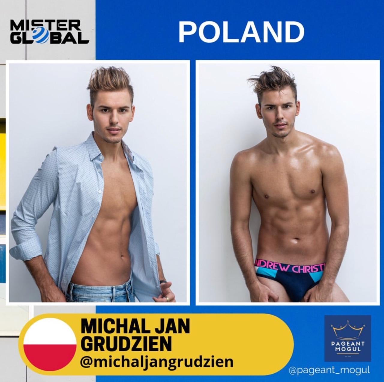 Michał Grudzień na wyborach Mister Global 2019