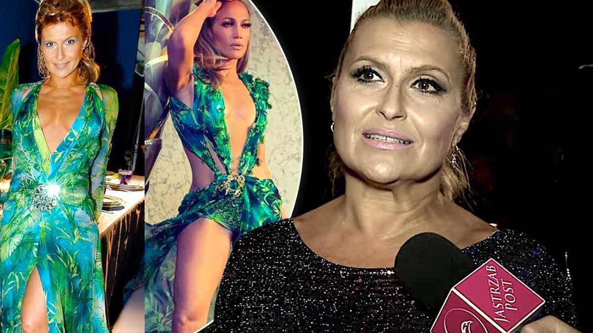 Katarzyna Skrzynecka o suknie Jennifer Lopez, Versace