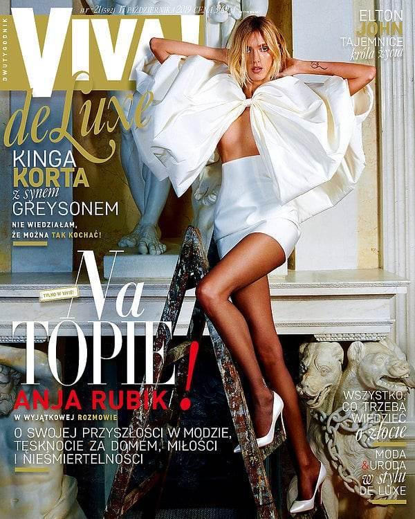 Anja Rubik na okładce magazynu Viva!