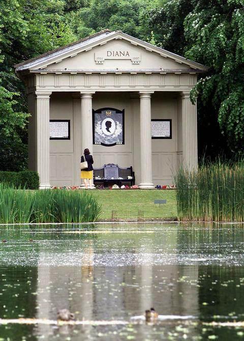 Księżna Diana - grób