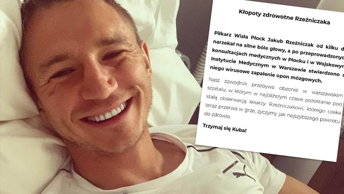 Jakub Rzeźniczak jest poważnie chory