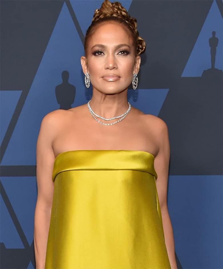 Jennifer Lopez - makijaż, gala Governors Awards