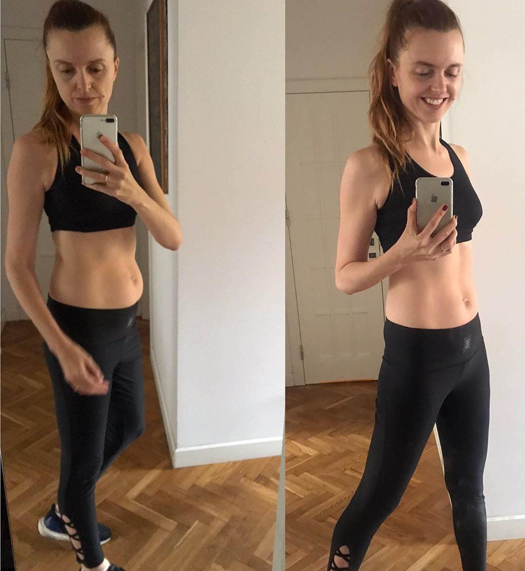 Katarzyna Burzyńska brzuch po ciąży i obecnie