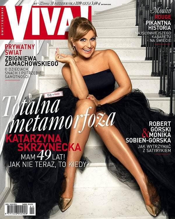 Katarzyna Skrzynecka na okładce magazynu Viva!