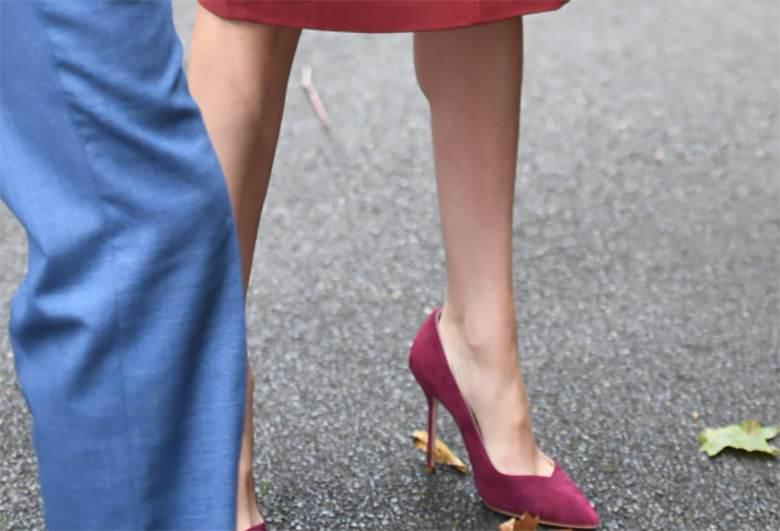 Meghan Markle w butach na obcasie - spotkanie w Windsorze