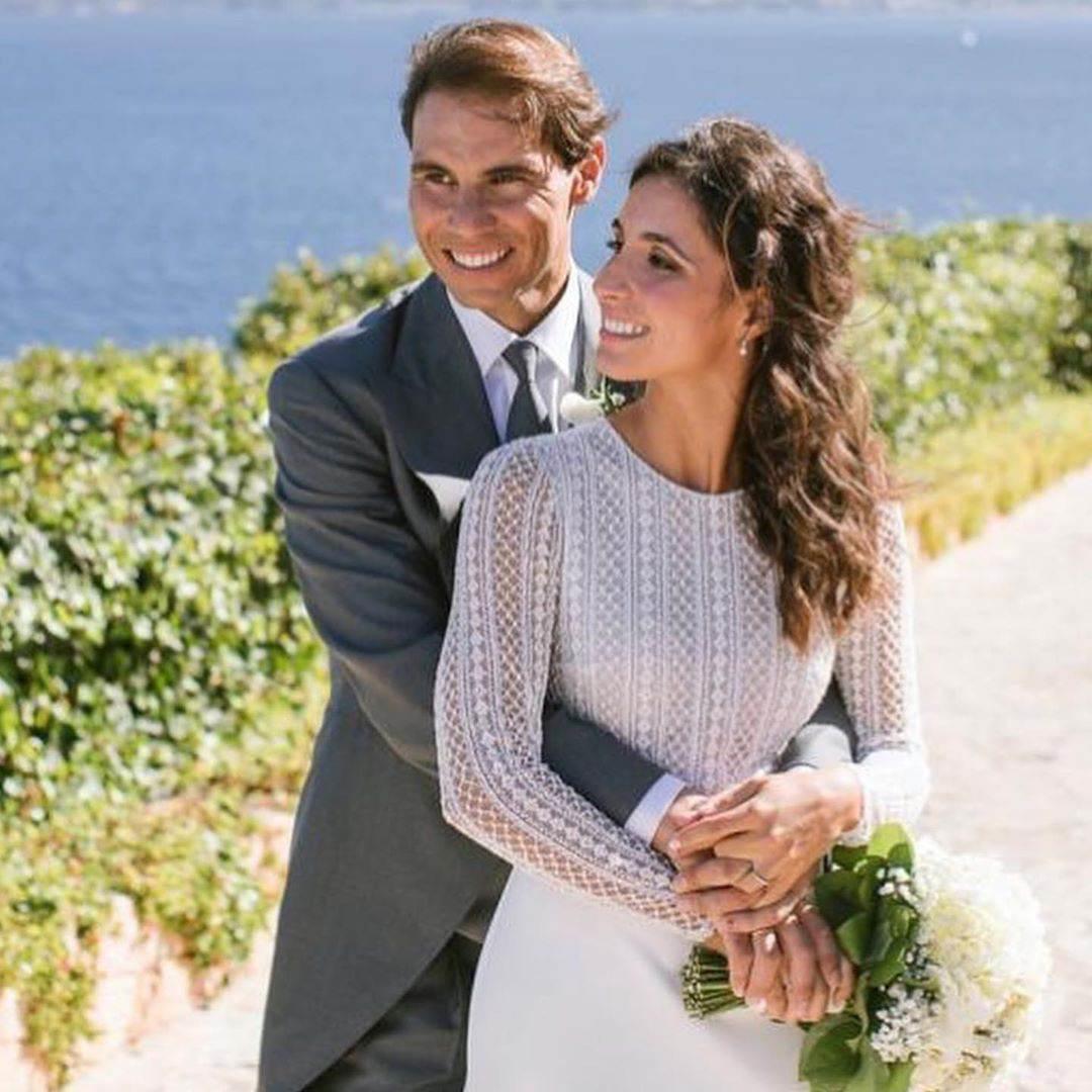 Rafael Nadal z żoną