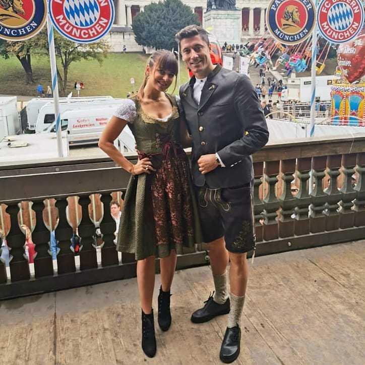 Robert Lewandowski i Anna Lewandowska Oktoberfest 2019