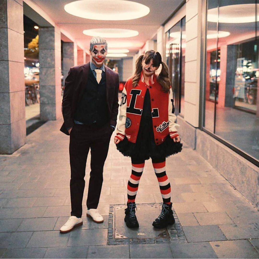 Robert i Anna Lewandowscy w przebraniach na Halloween