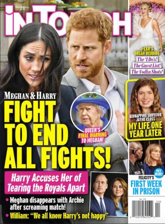 Meghan Markle uciekła od księcia Harry'ego? Okładka In Touch