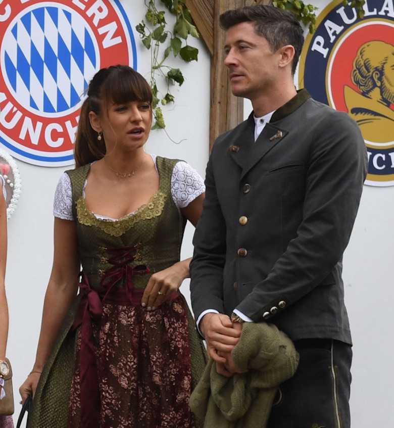 Anna Lewandowska i Robert Lewandowski na Oktoberfest 2019