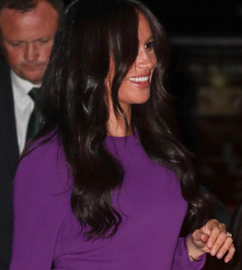 Meghan Markle w fioletowej sukni na One Young World w Royal Albert Hall