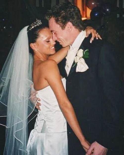 Ola Jordan i James Jordan na ślubie (2003 rok)