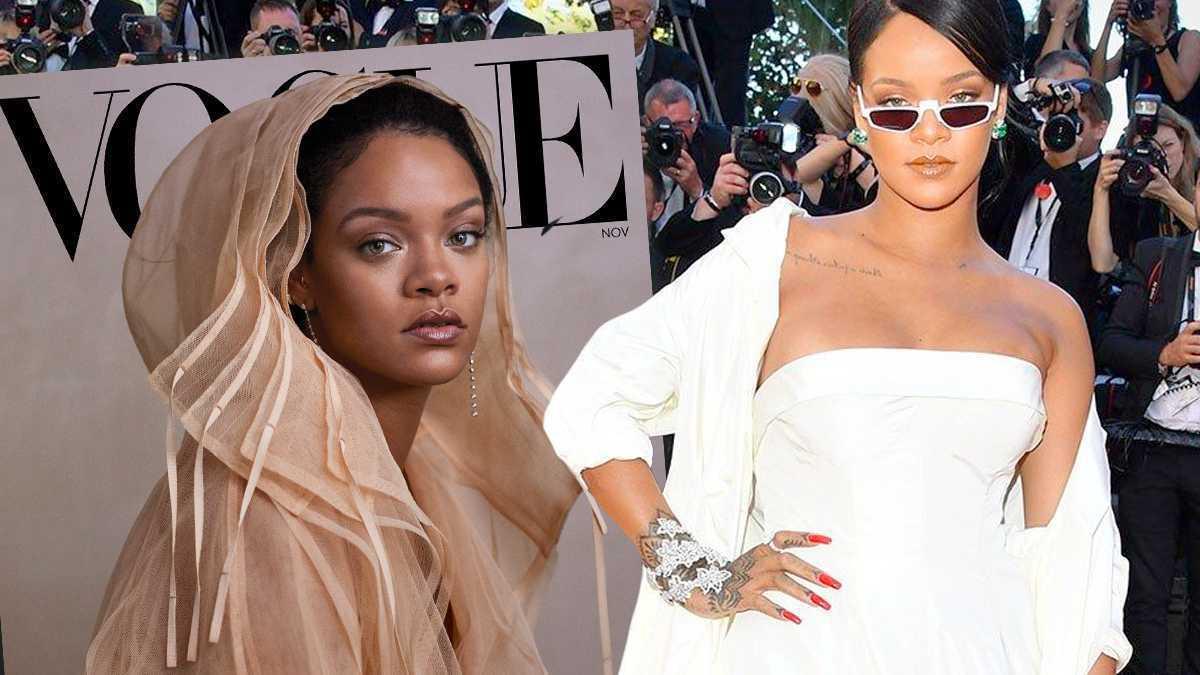 Rihannao ślubie. Vogue