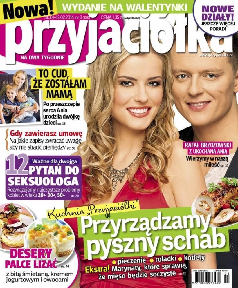 Anna Tarnowska i Rafał Brzozowski na okładce Przyjaciółki