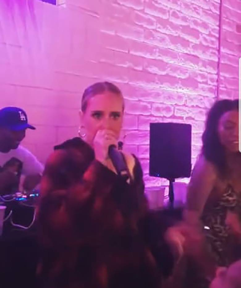 Adele rapuje na prywatnej imprezie
