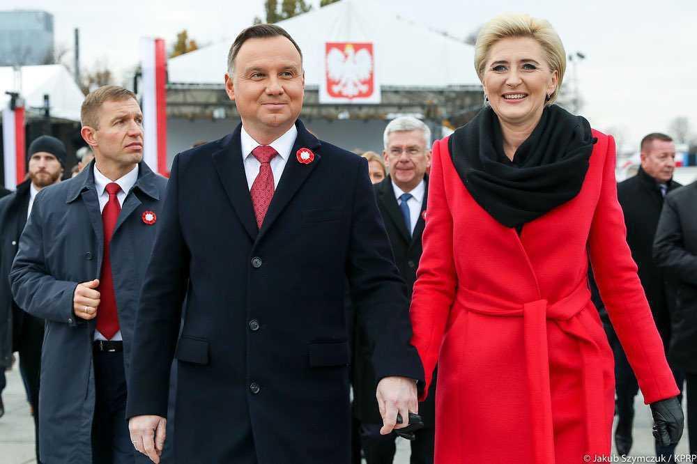 Agata i Andrzej Duda - Święto Niepodległości