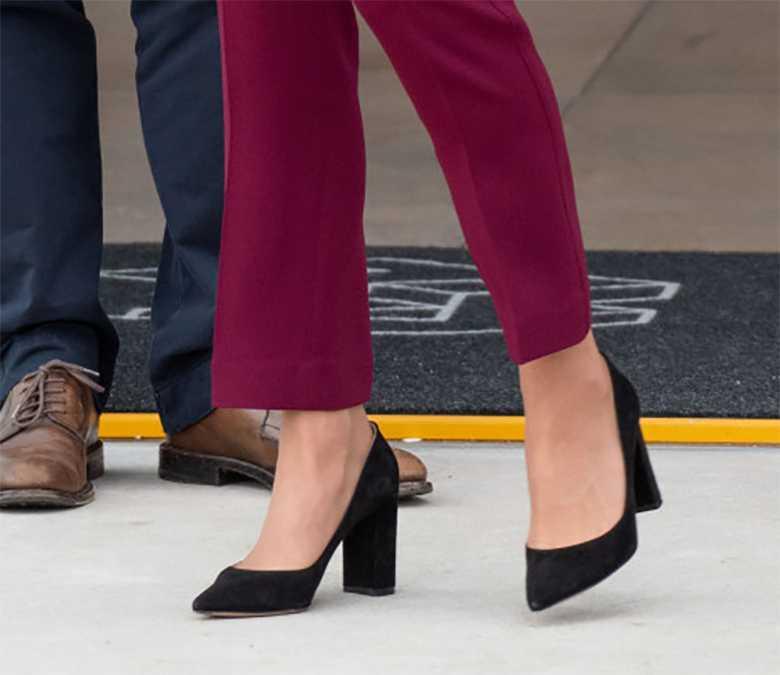 Księżna Kate wybrała wygodne buty na obcasie