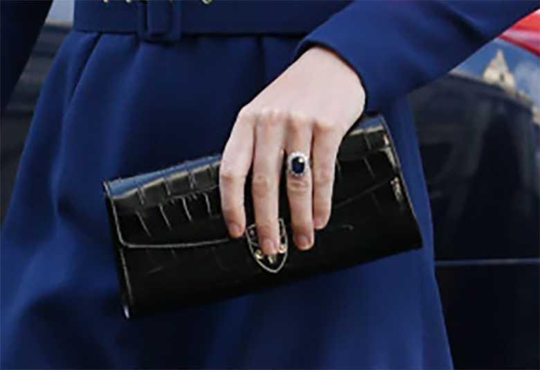 Księżna Kate pierścionek i torebka - inauguracja NET
