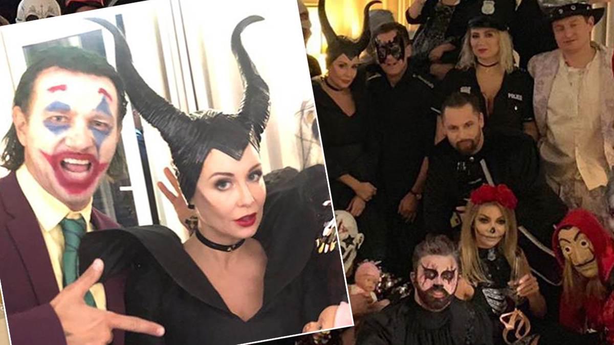 Małgorzata Rozenek i Radosław Majdan zorganizowali imprezę na Halloween 2019