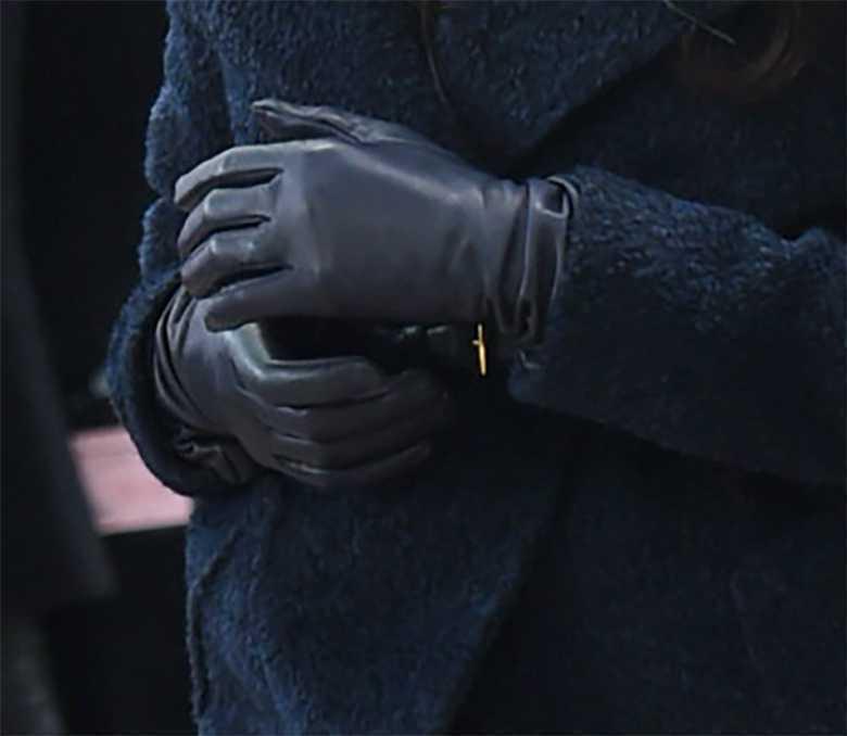 Meghan Markle - skórzane rękawiczki
