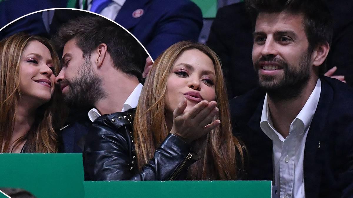 Shakira i Gerard Pique całują się namiętnie podczas meczu tenisowego