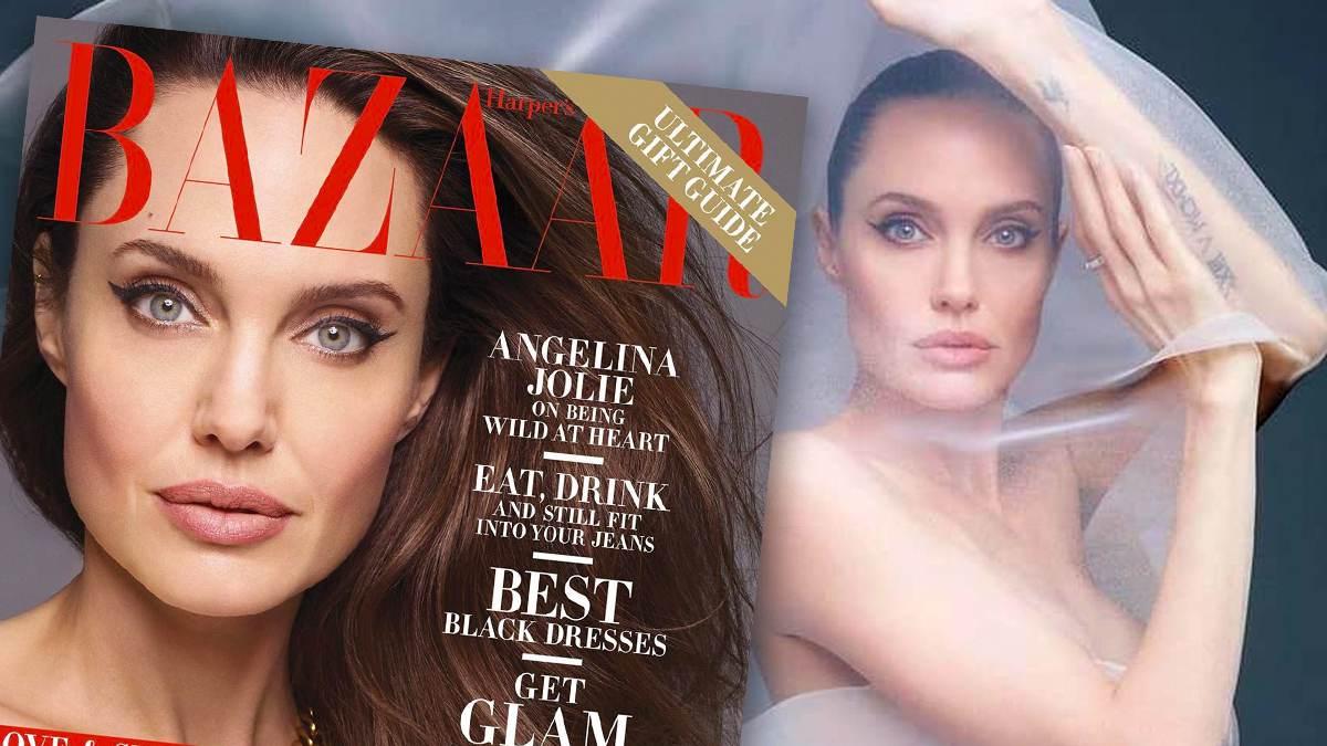 Angelina Jolie w Harper's Bazaar