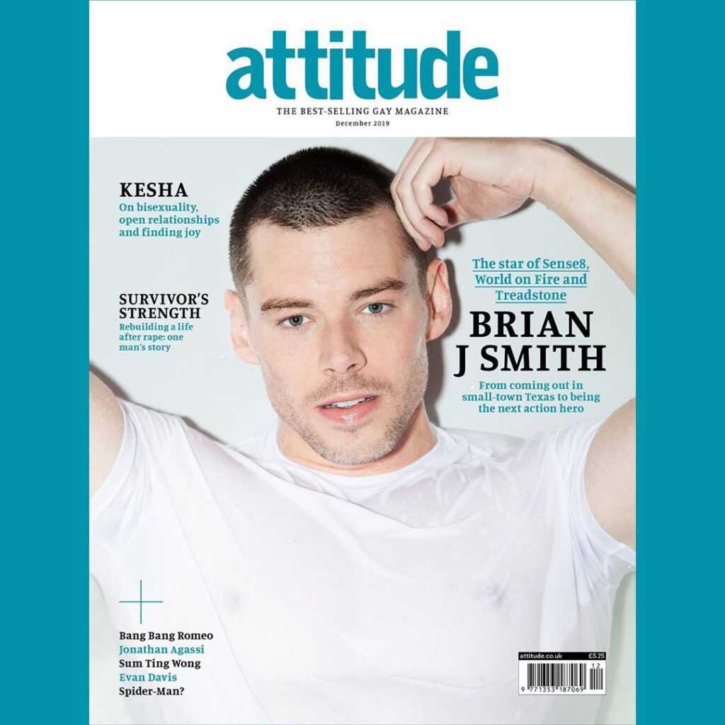 Brian J. Smith zrobił coming out w Attitude