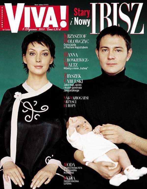 Krzysztof Ibisz i Anna Zejdler z synem Maksymilianem na okładce Vivy! (2001 rok)