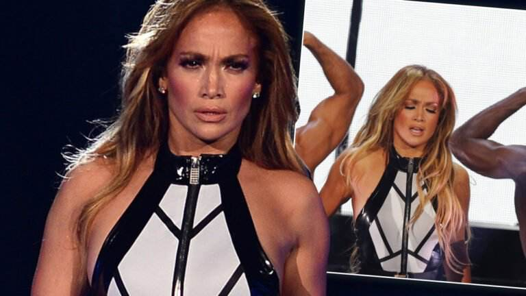 Jennifer Lopez w lateksowym body