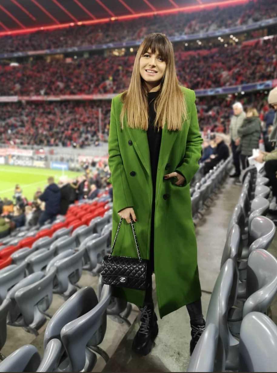 Anna Lewandowska na meczu, na którym Robert ogłosił, że spodziewają się dziecka