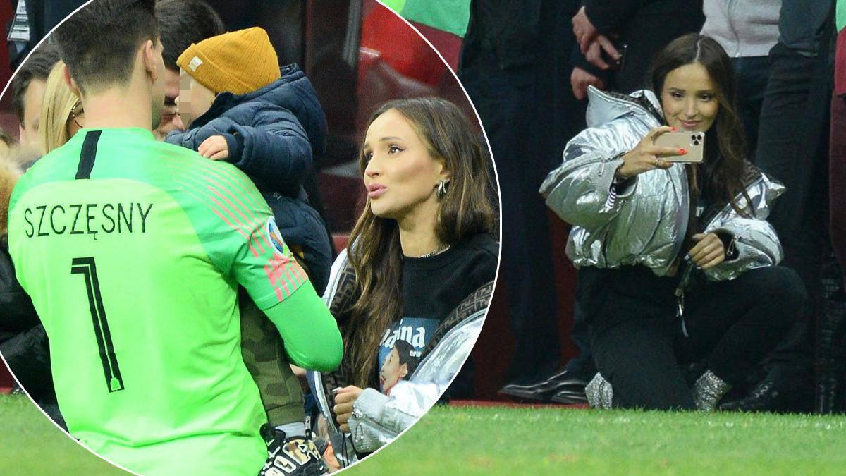 Liam Szczęsny już króluje na boisku! Podczas wczorajszego meczu bramkarz zabrał syna na murawę. Marinie kręci się łezka w oku