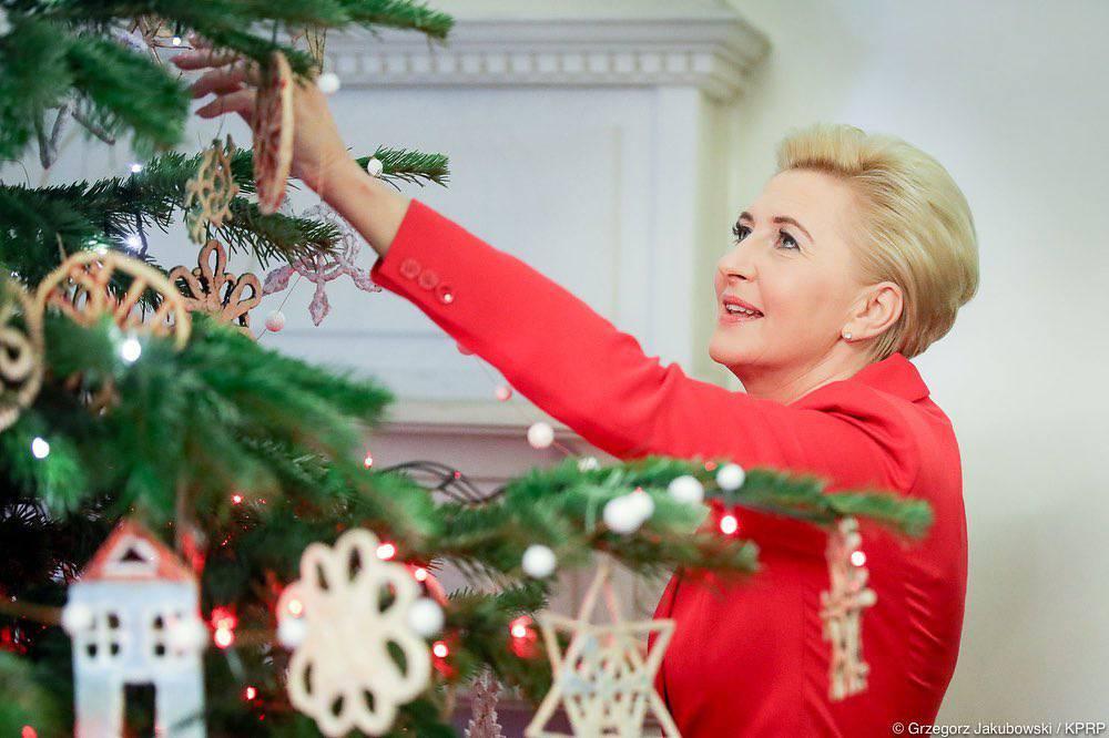 Agata Duda - ozdoby świąteczne w Pałacu Prezydenckim