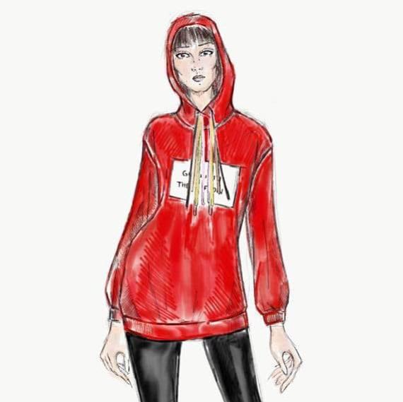 Anna Lewandowska zaprojektowała bluzę