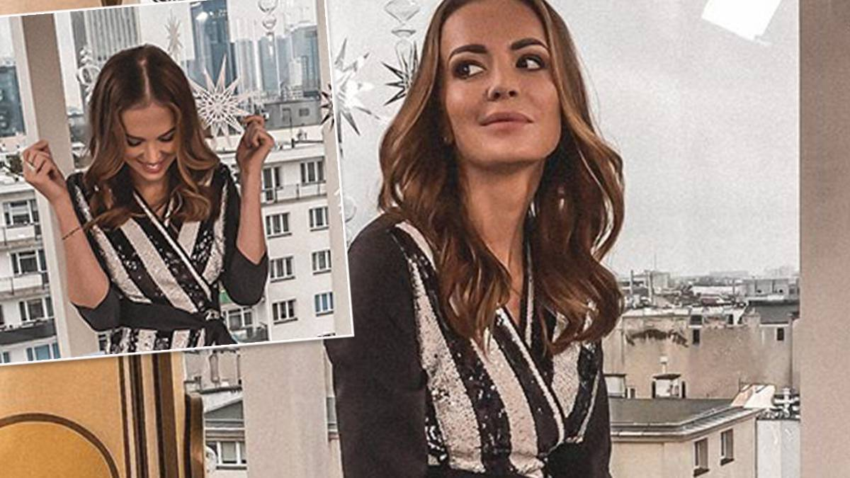 Anna Wendzikowska - cekinowa sukienka