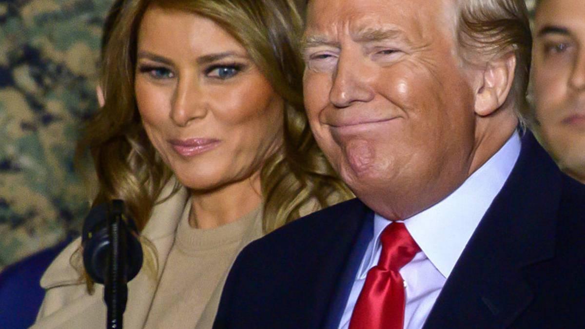 Donald Trump pocałował Melanię