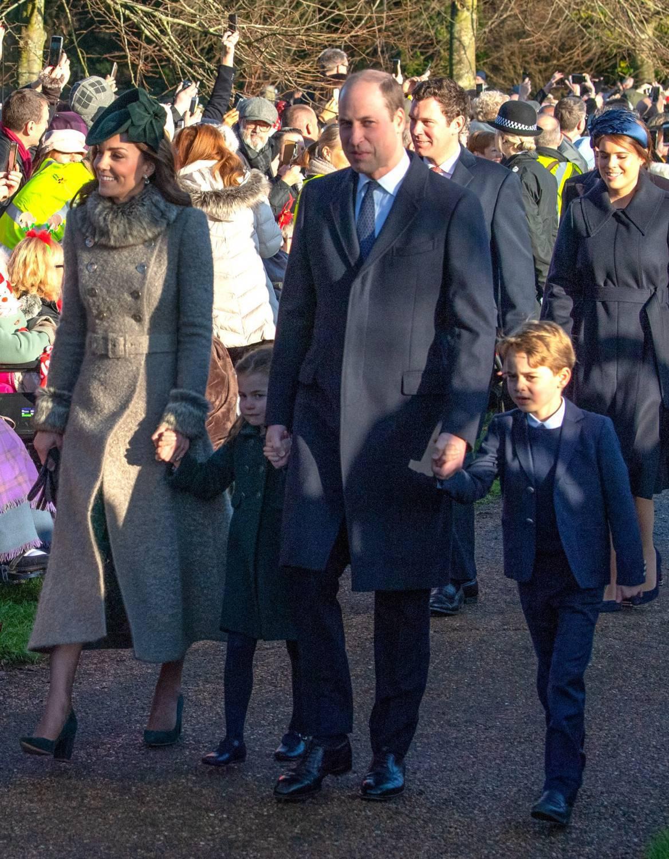 Książęta Cambridge z dziećmi na mszy świętej 2019 – Kate, William, George i Charlotte
