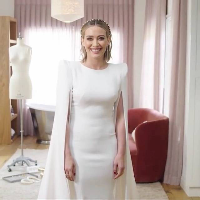 Hillary Duff w sukni ślubnej