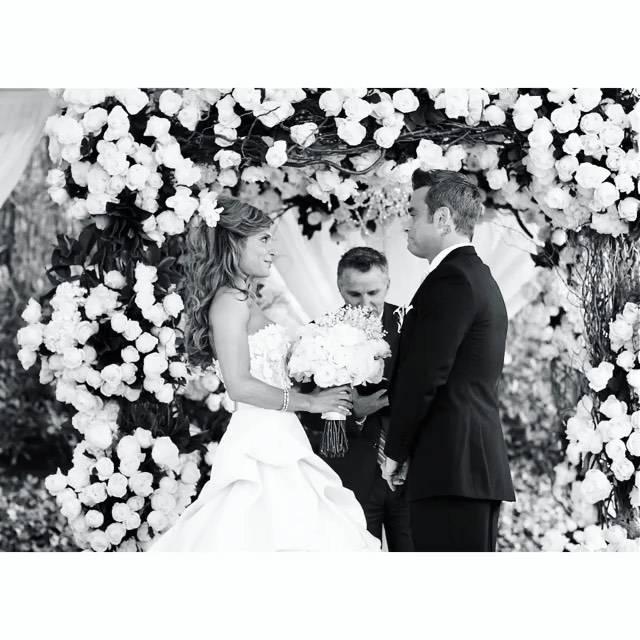 Robbie Williams i Ayda Field w czasie ślubu