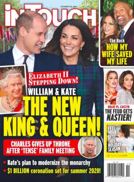 InTouch: Księżna Kate i książę William przejmą tron po królowej Elżbiecie II