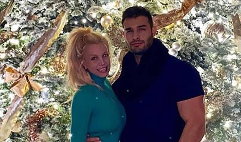 Britney Spears i Sam Asghari - choinka