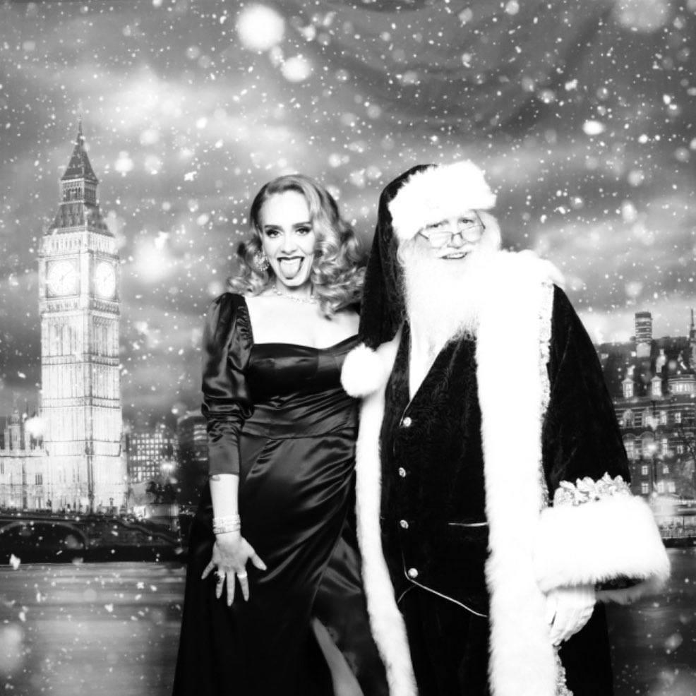 Odchudzona Adele w świątecznej sesji